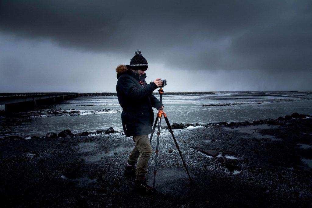 Photographer at the beach.