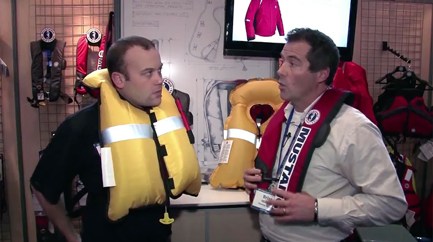 Mustang Inflatable PFD with Pacific Yachting Magazine
