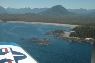 The beach at Vargas Island makes for a great landing strip. Credit: Peter Vassilopoulos