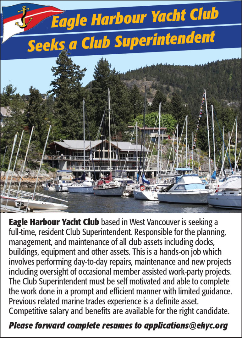 Eagle Harbour Yacht Club Job Posting