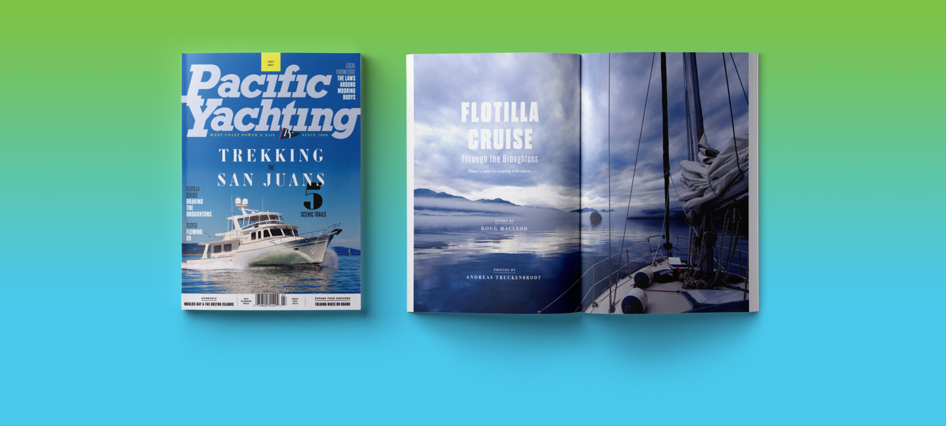 Pacific Yachting July 2021 issue.