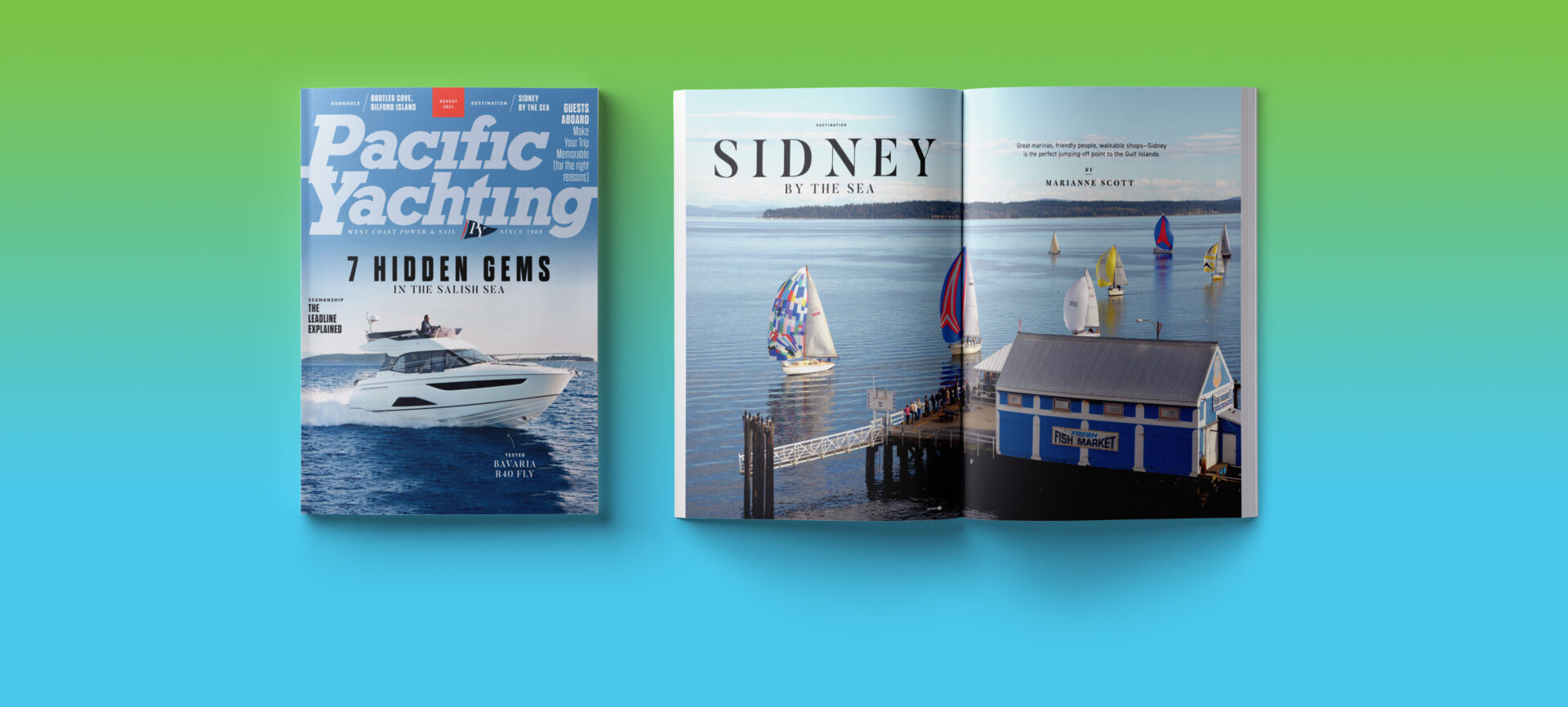 Pacific Yachting August 2021 issue.